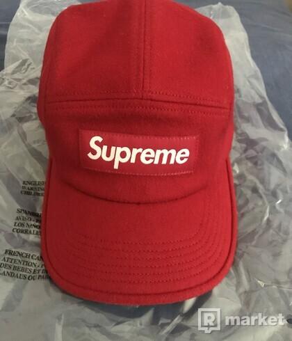 Supreme wool camp cap