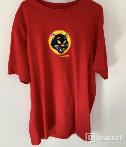 Black Cat Supreme Red Tee