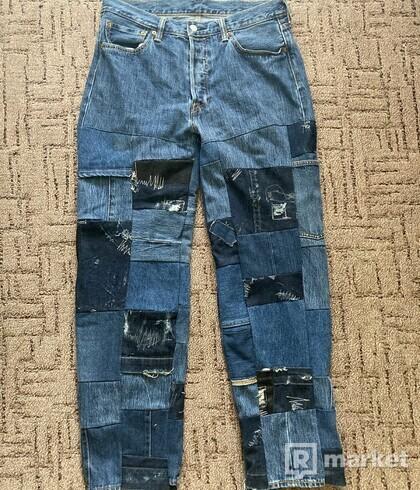 Custom Patchwork Levis 501