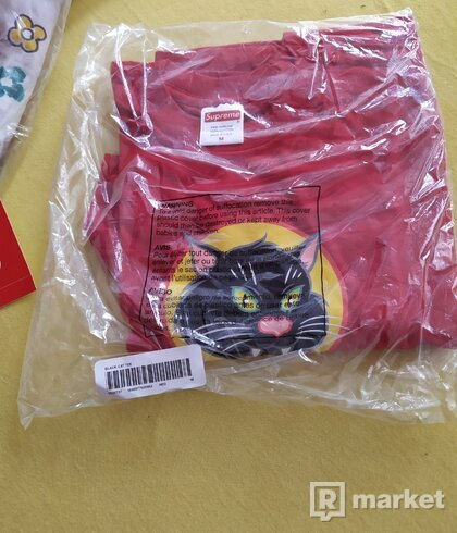 Tričko Supreme Black Cat tee-M