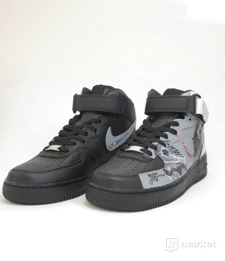 "custom  Nike Air Force 1 MID ""Star Wars""."