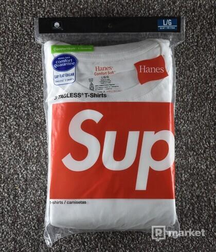 Supreme Hanes Tee White / Black