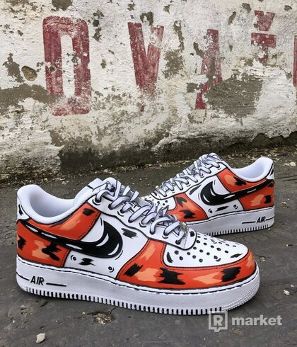 Nike Air Force 1 Cartoon Orange