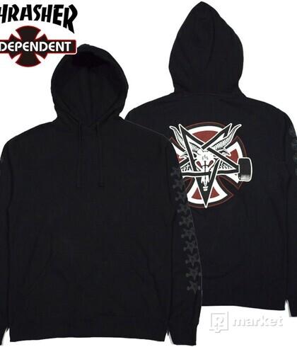 Independent x Thrasher Pentagram  hoodie