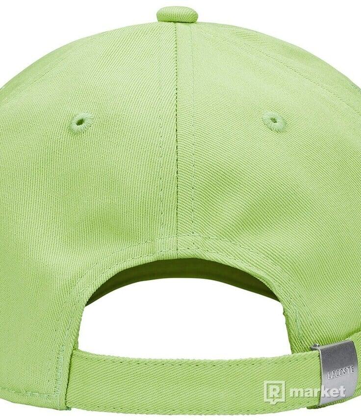 SUPREME/LACOSTE TWILL 6 PANEL GREEN