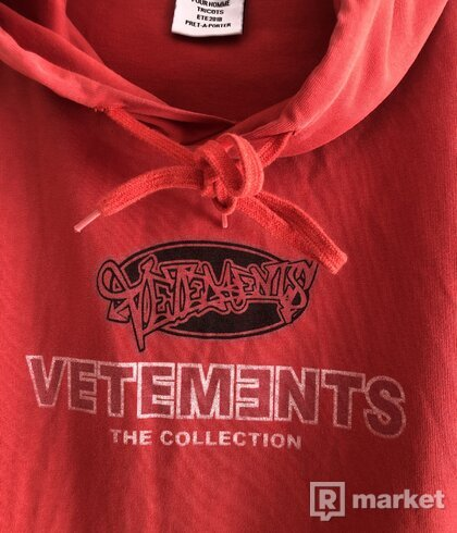 Vetements the collection hoodie