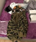 BAPE shark hoodie green