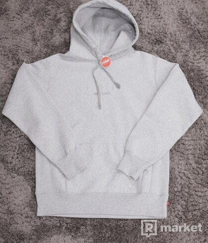 Supreme Chrome Classic Logo Hoodie Grey
