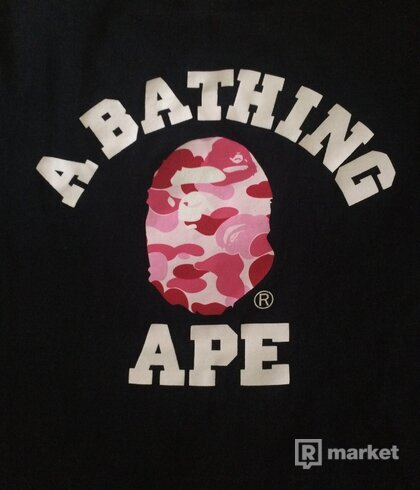 ABC  By Bathing tee Black x Pink