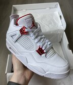 Jordan retro 4 metallic red