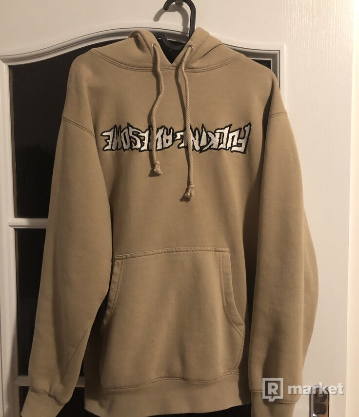 Fucking Awesome Ebroidered Reversed Logo hoodie
