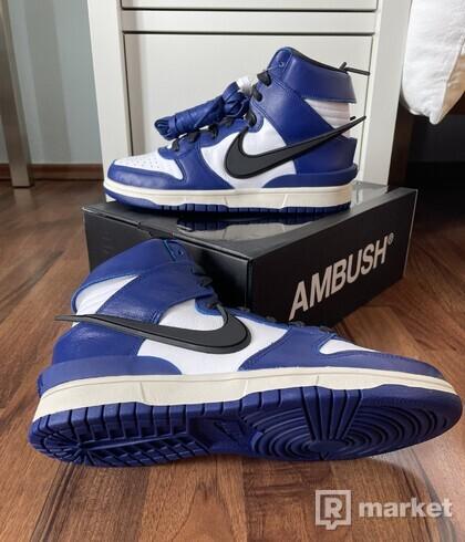 "Nike Dunk High x Ambush ""Deep Royal"""