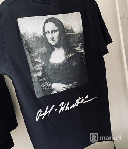 Off white mona lisa graphic print
