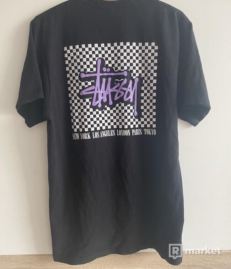 Stussy Checkerboard Tee Black