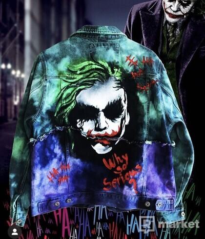 Joker - ručne maľovaná - prešívaná