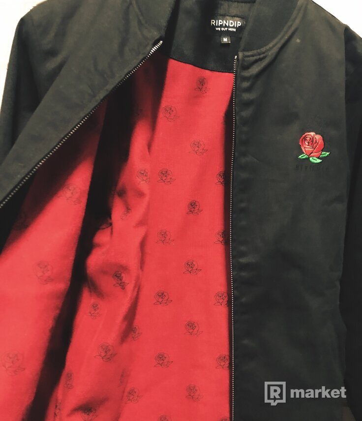 RIPNDIP We Bad Rose Zip Varsity Jacket
