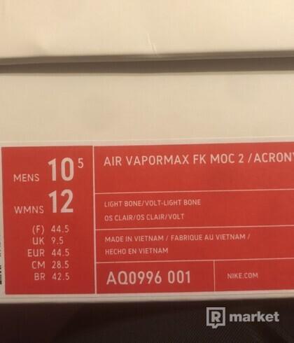 AIR VAPORMAX FK MOC 2 / ACRONYM