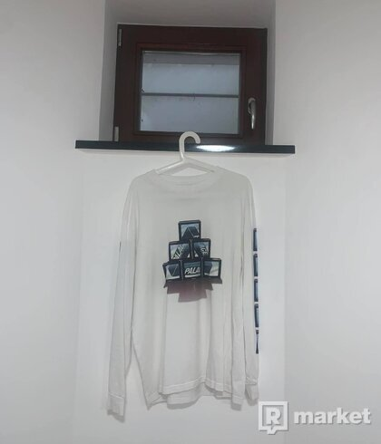 Palace PTV Palasonic Tri-Ferg Logo XL T-Shirt White FW19 Mens AUTHENTIC