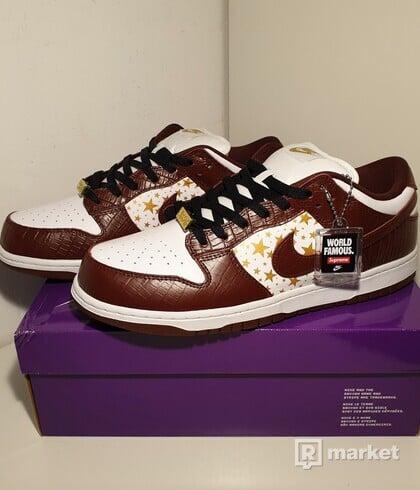Nike Sb Dunk Low x Supreme Stars Barkroot Brown