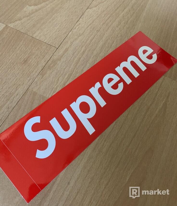 Supreme logo box stickers