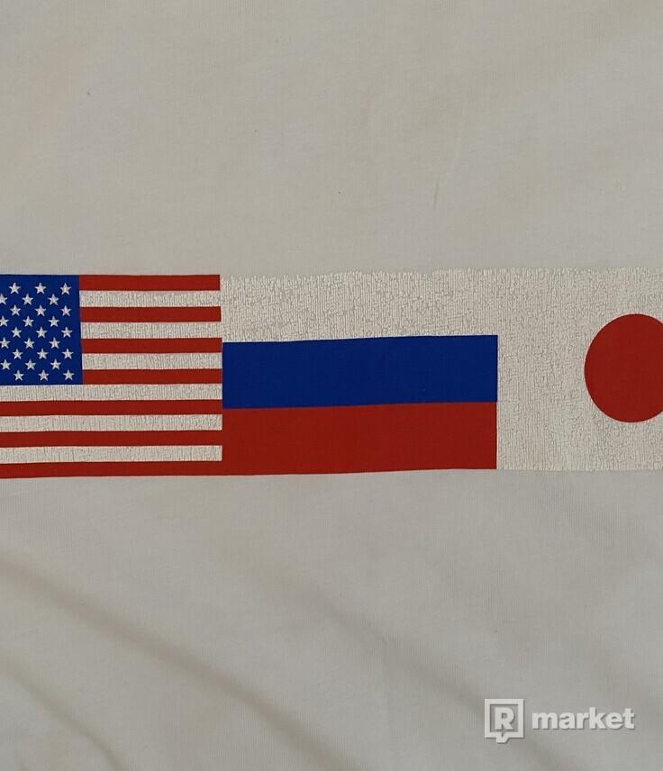 Gosha Rubchinskiy flag Tee bílé
