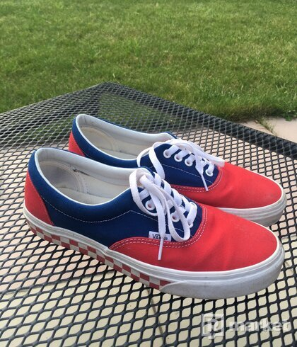 Original Vans shoes blue/red