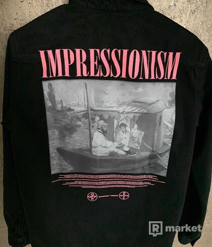 Off-White Black Denim 'Impressionism' Shirt