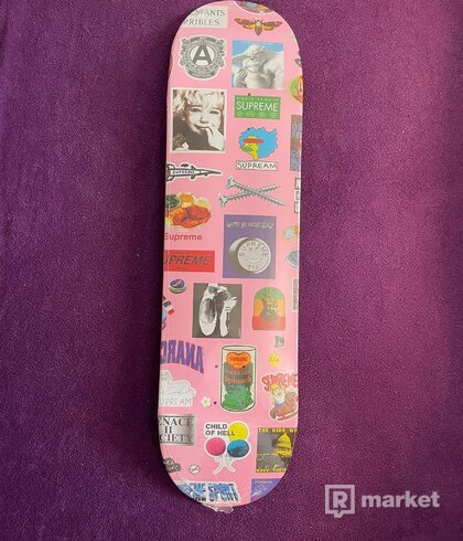 Supreme Sticker Deck Pink (skate)