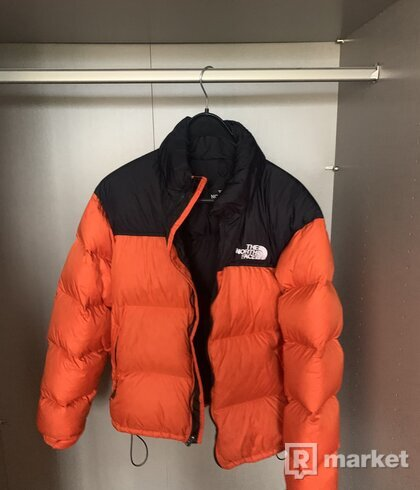 North Face Nuptse Jacket Orange