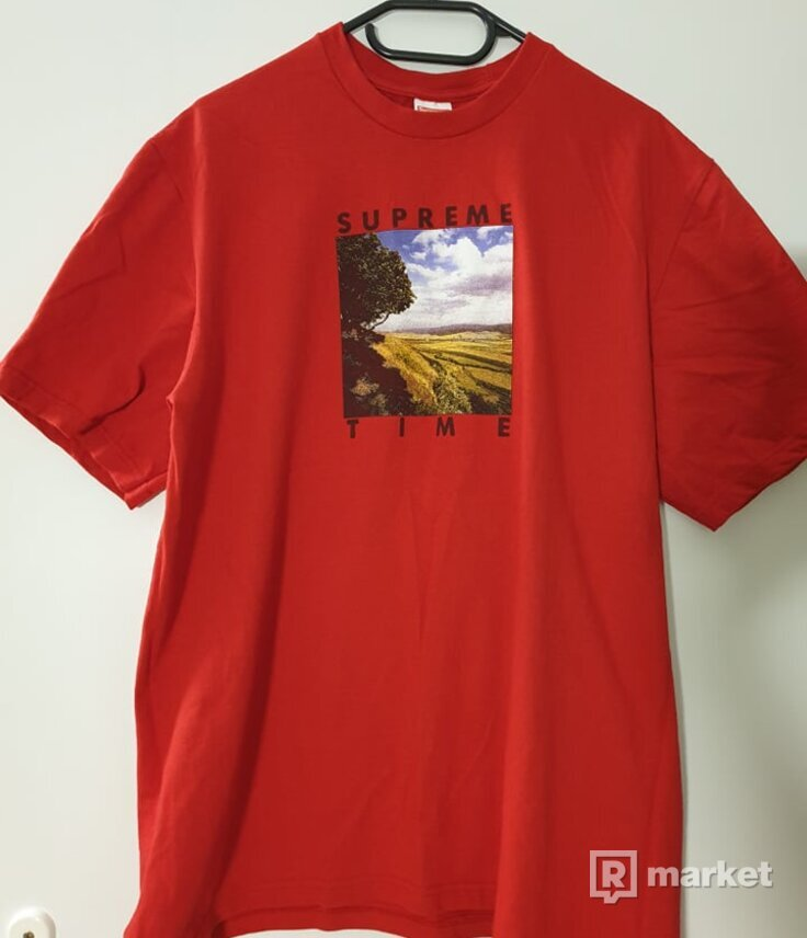 Supreme Time Tee (Red)