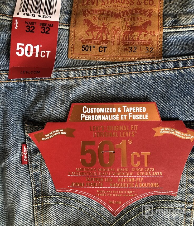 Levis 501CT ripped jeans