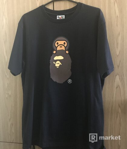 Baby Milo on Ape head tee