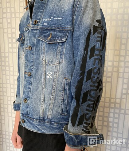 Off-White denim jacket  impressionism