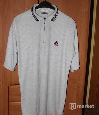 Vintage Adidas zip up polo shirt