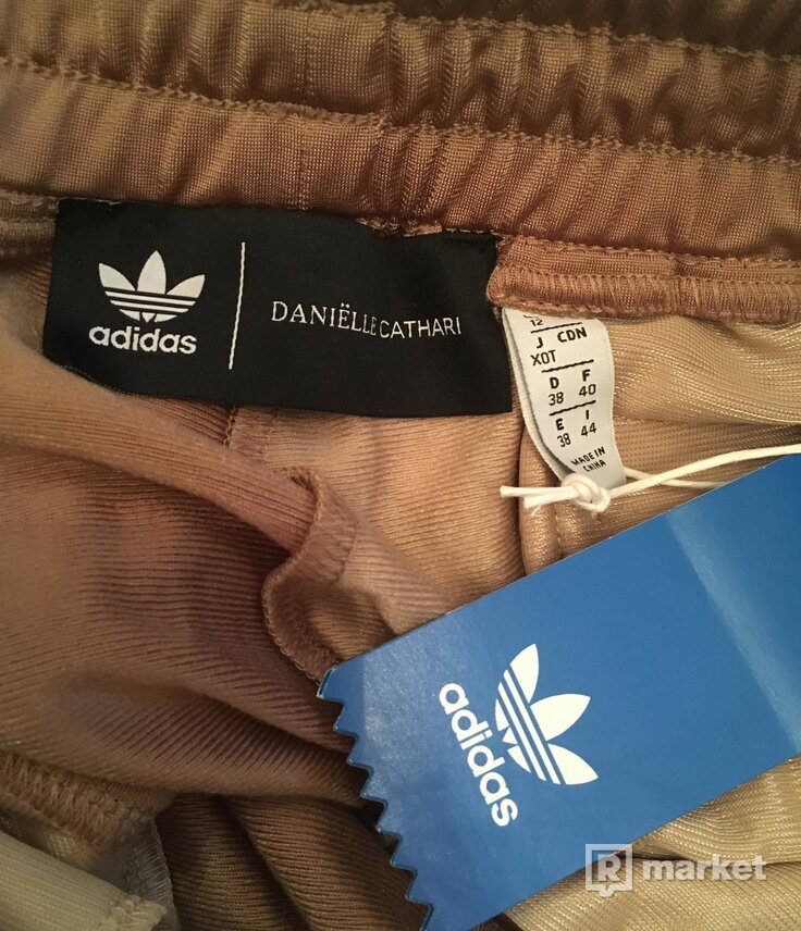 adidas Originals X Danielle Cathari Deconstructed Track Pants In Beige Khaki 38