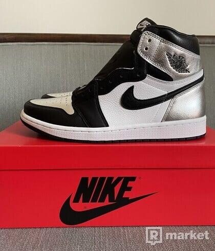 Nike Air Jordan 1 Retro High Silver Toe (W) EU 42.5