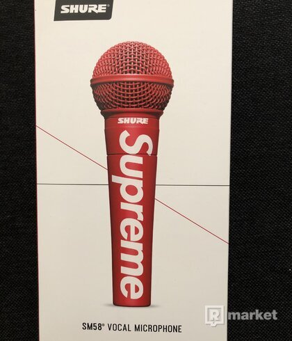 Supreme Shure SM58 microphone red