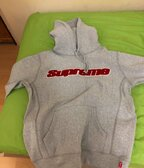 Supreme Chenille hoodie grey