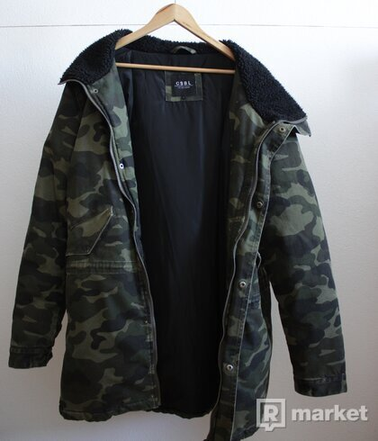 Cayler & Sons All Day Denim Parka Woven Woodland Camo