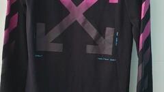 OFF-WHITE Diagonal Gradient L/S Tee Black