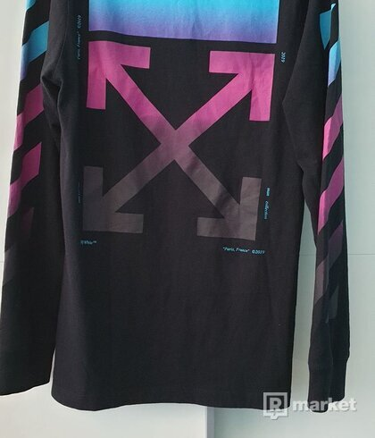 OFF-WHITE Diagonal Gradient L/S Tee Black