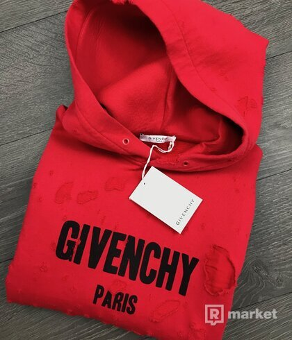 Givenchy destoyed hoodie