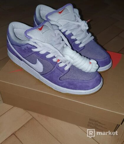 Nike SB Dunk Low Pro ISO Orange Label Unbleached Pack Lilac