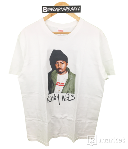 Supreme Nasty Nas Photo Tee White L