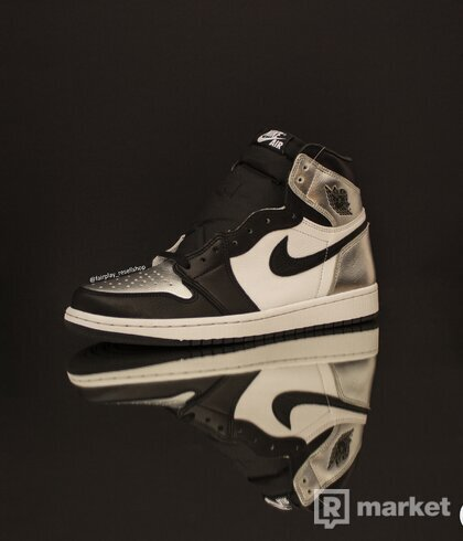 Air Jordan 1 High Silver Toe
