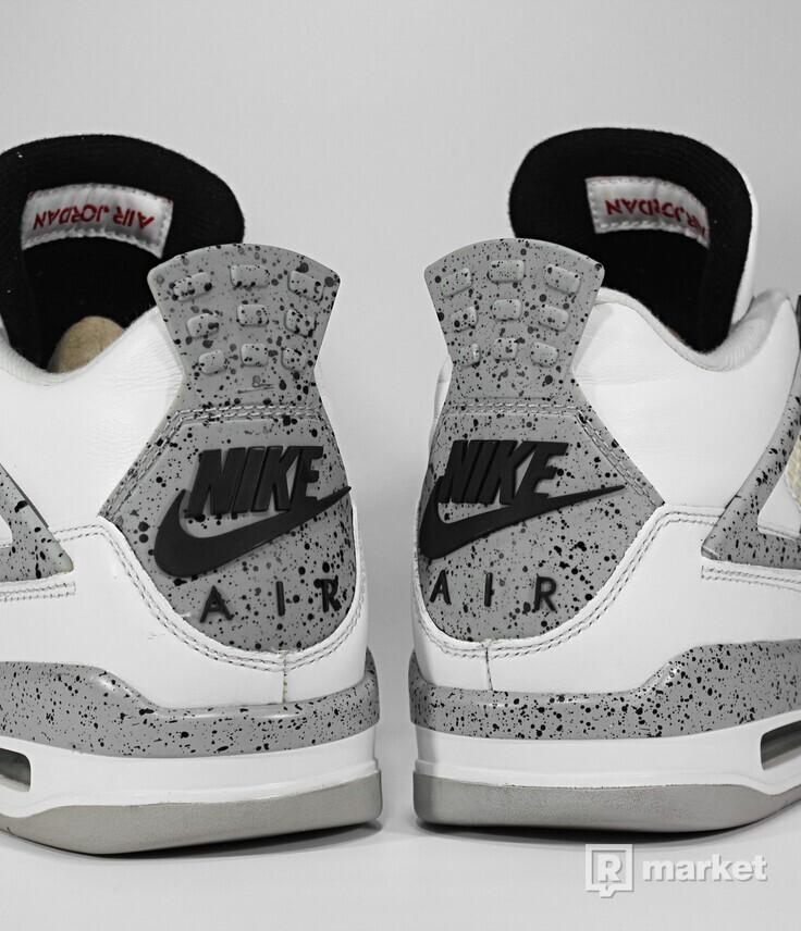 """Air Jordan Retro 4 OG """"White Cement"""" 2016"""