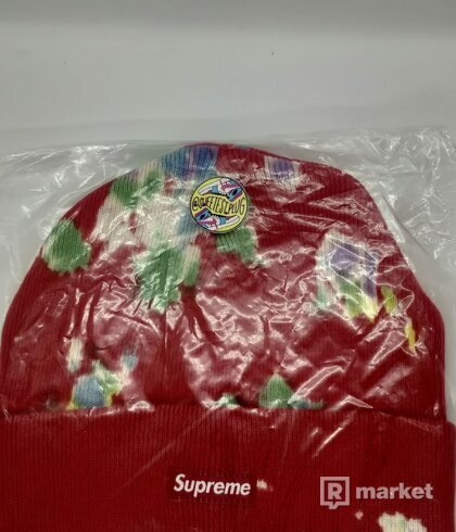Supreme Splatter Dyed Beanie Red
