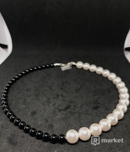 Swarovski half split pearl necklace