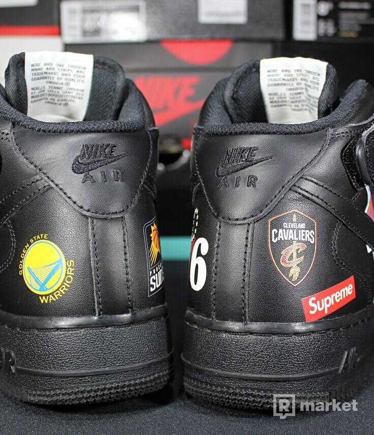 """Nike Air Force 1 Mid x NBA x Supreme """"Black"""""""
