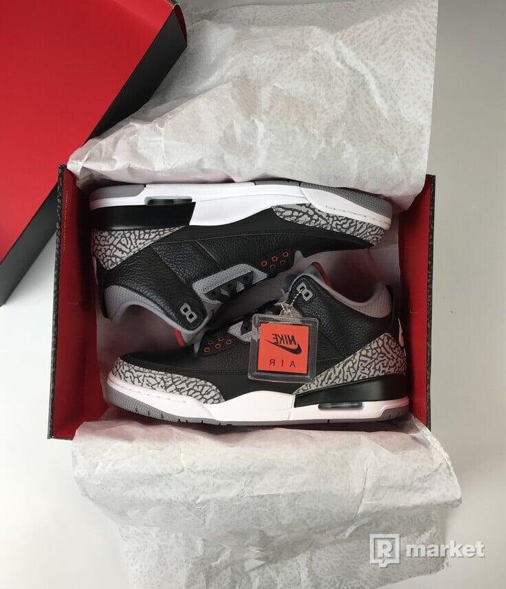 Air Jordan Retro 3 Black Cement